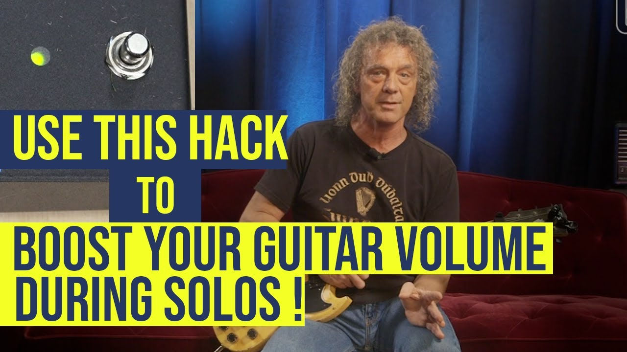 Boost your guitar volume through the PA System with this clever hack!