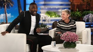 idris elba chats about not working with ellen