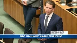 Eklat im Parlament: Buh-Rufe bei Kurz-Rede