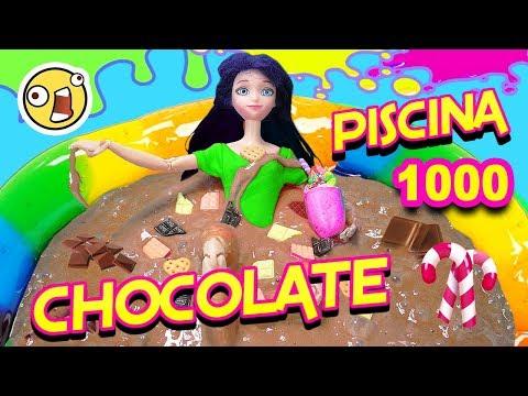 Piscina de CHOCOLATE | SLIME Gigante de Chocolate