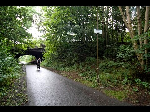 Telford cycle path from Caledonian Village to Newhaven - Edinburgh