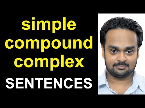 SIMPLE, COMPOUND, COMPLEX SENTENCES - With Examples, Exercises - Sentence Clause Structure - Grammar