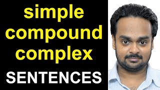 Learn the difference between SIMPLE, COMPOUND, and COMPLEX sentence...
