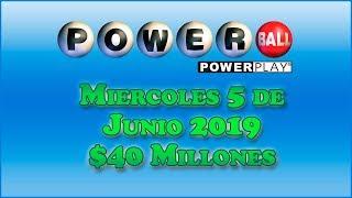 Gambar cover Resultados Powerball 5 de Junio 2019 $40 Millones de dolares | Powerball en Español