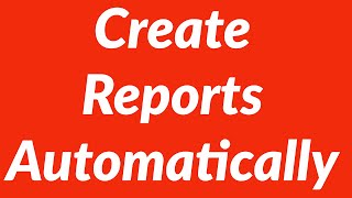 Create reports from raw data automatically with loops, auto-filter and VBA
