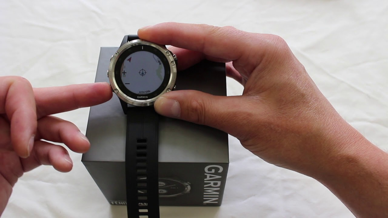 Garmin Fenix 5 Plus Overview Of The Map Page Youtube