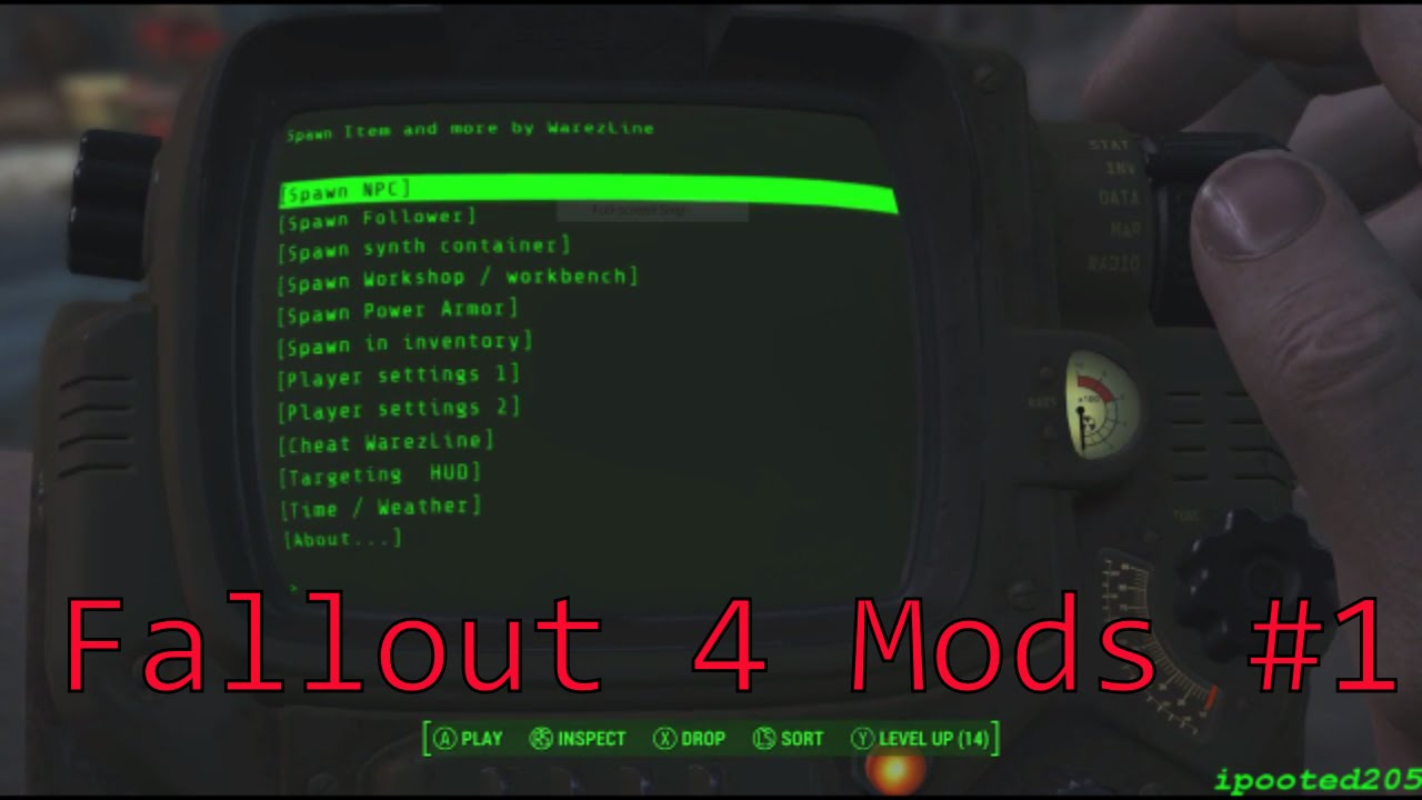 Fallout 4 console mods 1 spawn items xbox one mods youtube - What consoles will fallout 4 be on ...