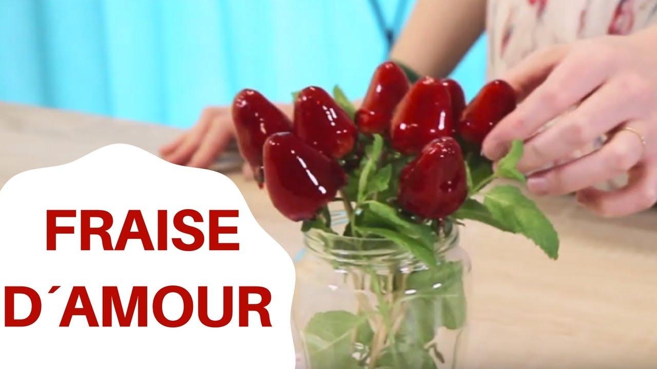 Incroyable Bouquet de fraises d'amour | Recette romantique - YouTube QW-61