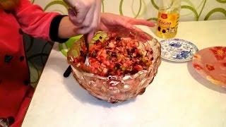 винегрет классический рецепт с квашеной капустой и горошком