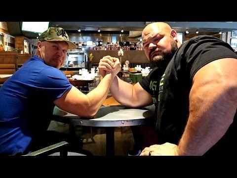 ARM WRESTLING VS WORLD'S STRONGEST MAN!