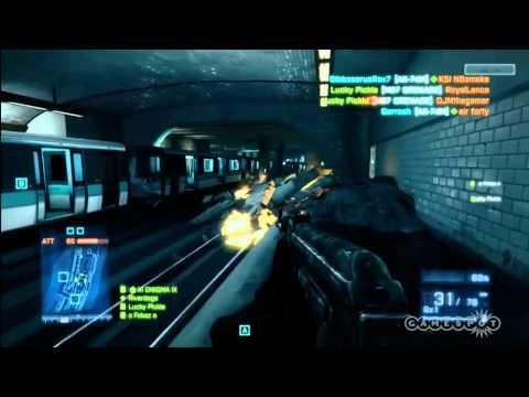 Battlefield 3: Assault Rifle Ribbon Multiplayer Beta Operation Metro Gameplay (Xbox 360)
