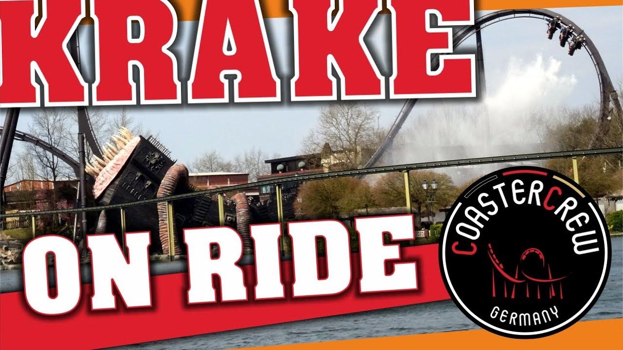 Krake Bolliger & Mabillard Dive Coaster The Movie @ Heide Park Resort, POV on off-ride