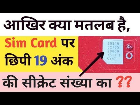 What's the Iccid number on sim card in hindi | आखिर क्या