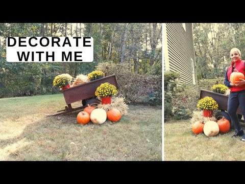Front Yard Decorating Ideas for Fall. Come Decorate My Front Yard for Fall! Fall Decorate with me!