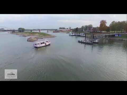 Laag en Hoog water op de IJssel bij Deventer