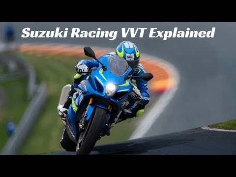 2017 Suzuki Racing VVT (variable valve timing) explained