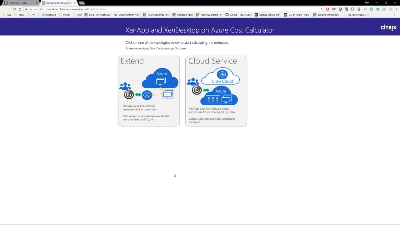 how to guide citrix on azure pricing calculator youtube