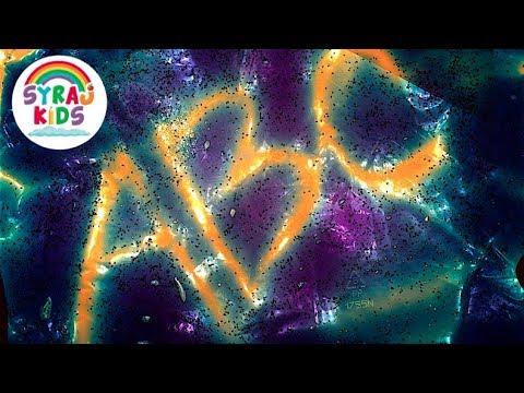 Rainbow Glitter Lightbox ABC