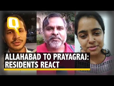 Allahabad Renamed Prayagraj, Garners Mixed Reactions | The Quint