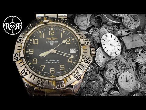 Restoration Of An Abandoned Breitling Automatic Watch - Breitling Colt A17035