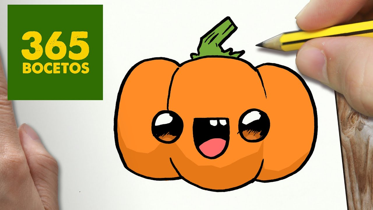 Como Dibujar Calabaza Kawaii Paso A Paso Dibujos Kawaii Faciles How To Draw A Pumpkin