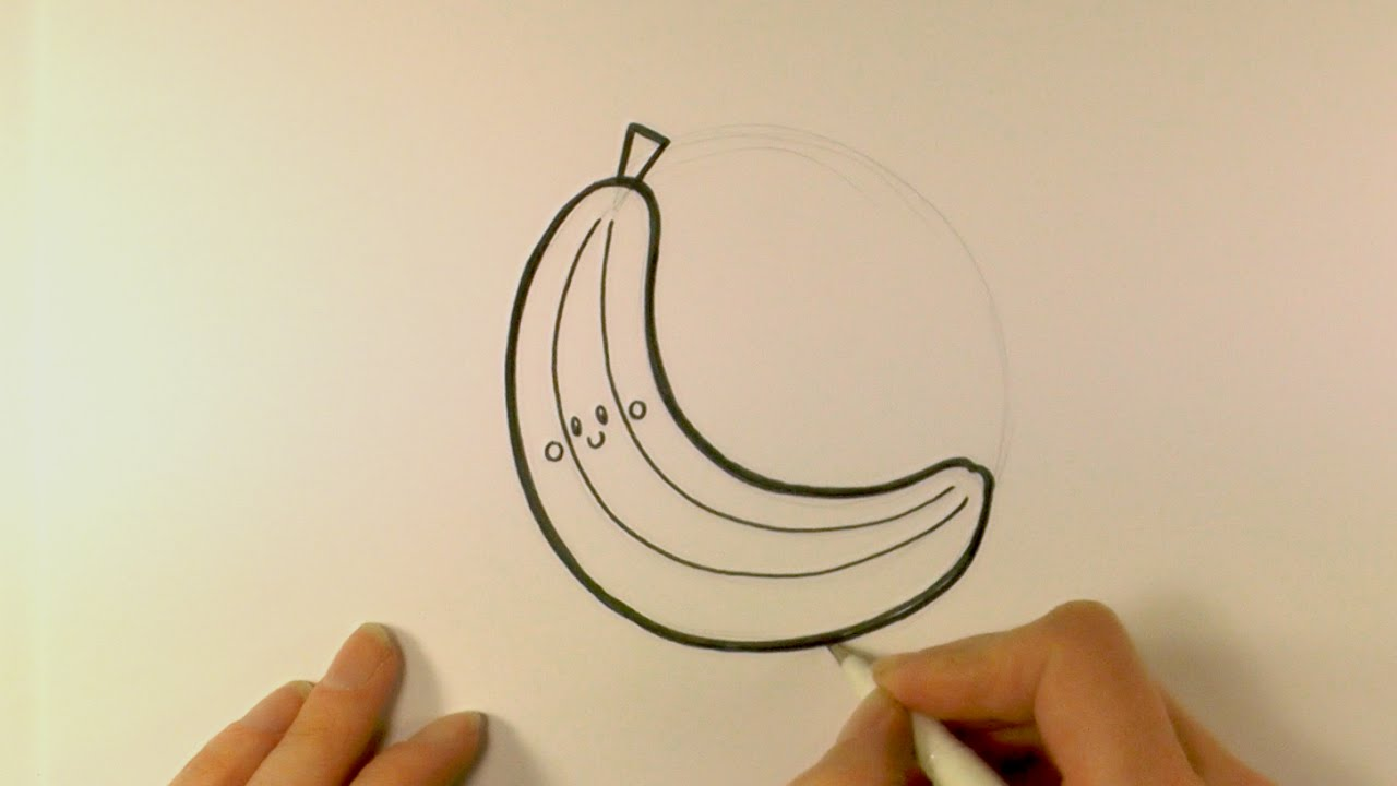 How To Draw A Cartoon Banana Youtube