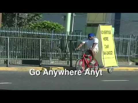 Bicycle Billboards in Jamaica
