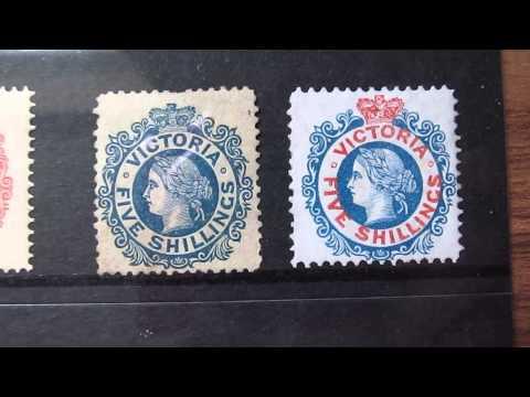 stamps collection, australia queen victoria
