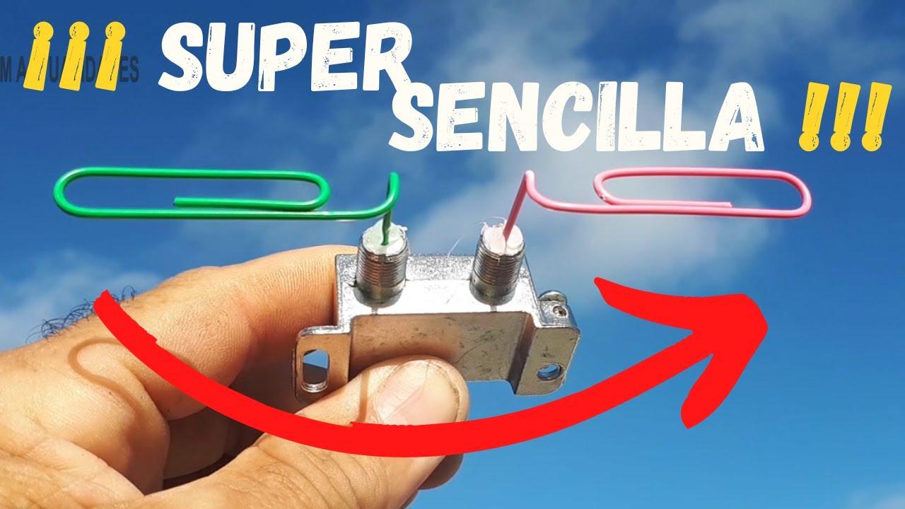 Super Sencilla Y Rápida Antena Para Tv Clip Splitter Youtube