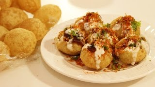 Dahi Puri Recipe (Popular Indian Street food Snacks or Chaat)