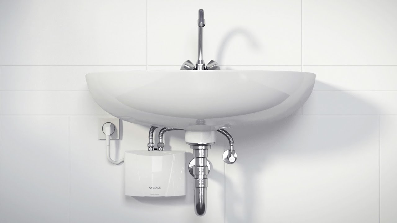 m3 snm with tap undersink installation of the mini instant water heater at a washbasin