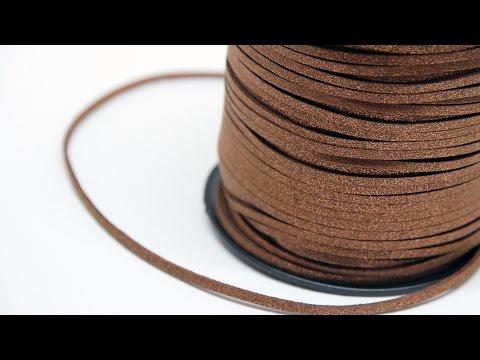 Cordon lacet suédine brillant & nouveautés pour bijoux fantaisie