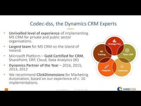 ClickDimensions Overview Codec DSS Webinar