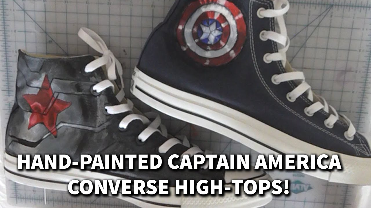 chaussure converse captain america