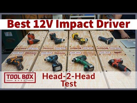 Best 12 Volt Impact Driver -  Head To Head Test