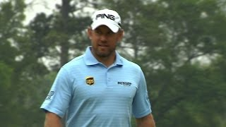 Lee Westwood holes approach for eagle at Shell