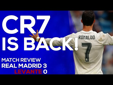 Real Madrid 3-0 Levante | Cristiano Ronaldo is unstoppable | MATCH REVIEW