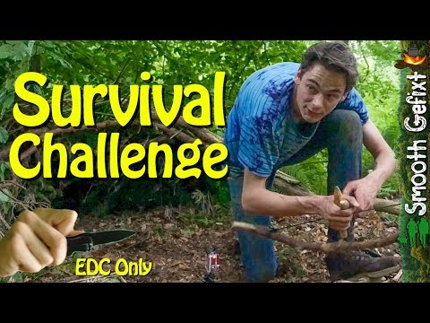 24 hour Survival Challenge – EDC Knife Only (thunderstorm st