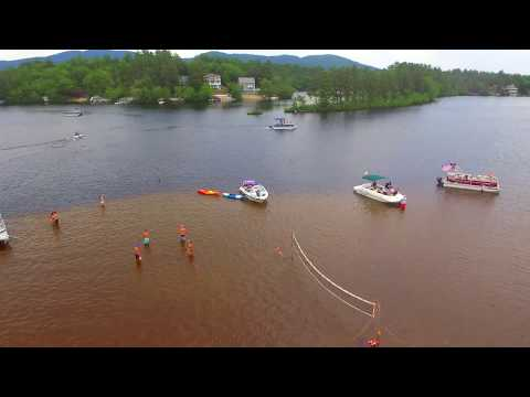 Flying around Sandbar Between Ossipee Lake and Broad Bay