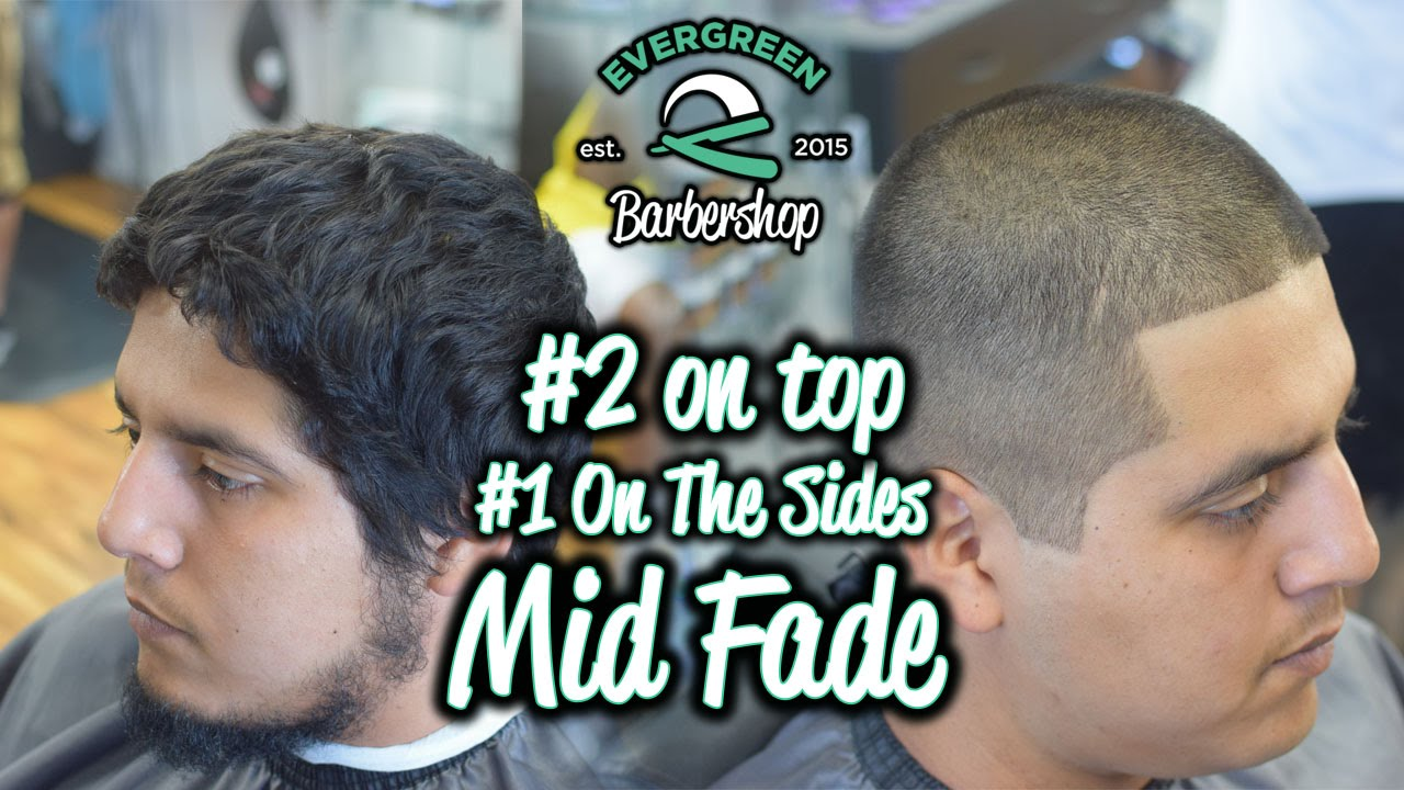 Midmedium Fade 2 On Top 1 On Sides Line Up Youtube