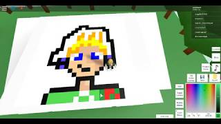 Roblox Pixel art Creator (How to make human youself) For Easy