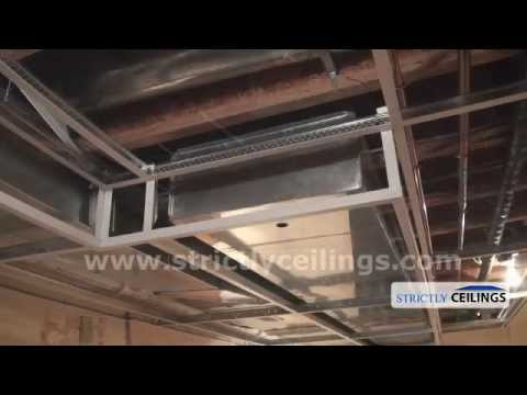 Installing Ceiling Drops For A Dropped Or Suspended