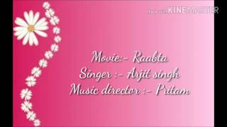 Ik Vaaria song lyrics from the movie Raabta