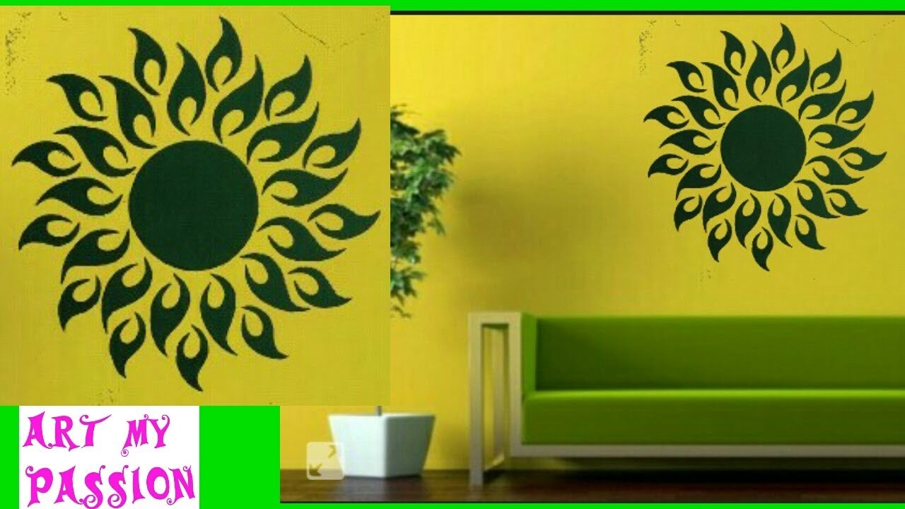 DIY|3D wall sticker|diy wall decor|diy Home decor|diy room decor|art ...