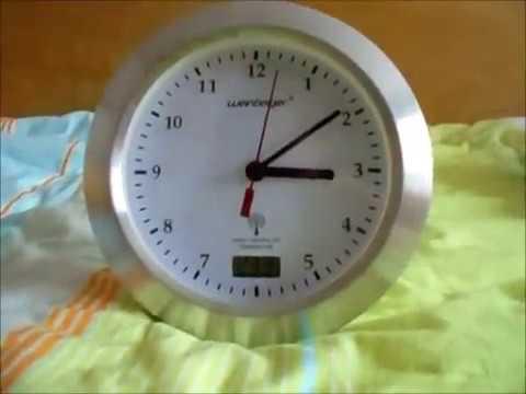 Badezimmer Funkuhr mit Temperaturanzeige schnelles Review - YouTube