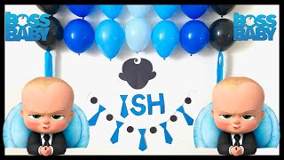 Very Easy Birthday Decoration At Home | Diy Boss Baby Birthday Decoration - Party Decorations.