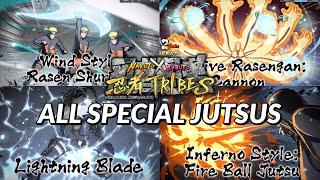 Naruto X Boruto Ninja Tribes - All Special Jutsus!