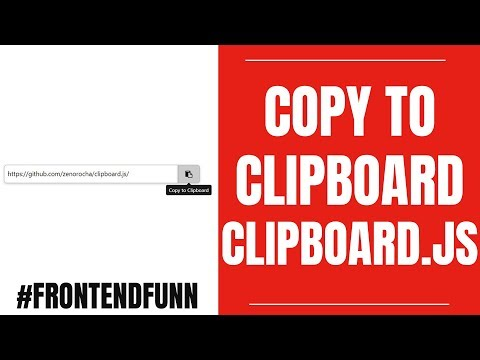 html css javascript - #Copy to #Clipboard Tutorial Using Javascript and #Clipboard.js