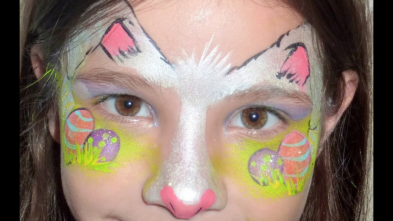 Easter Bunny Face Painting Tutorial - YouTube