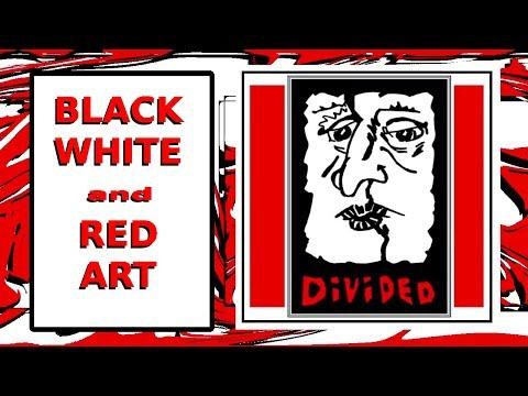 CREATE COMPUTER ART Gimp | Kdenlive (BLACK | WHITE | RED) | Totally Insane Art thumbnail